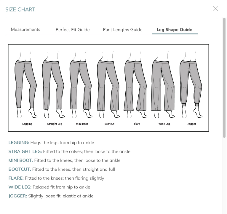 Please Remember Measurements Shown Are Body Not Garment Inseam And Dress Lengths Listed In The Item Descriptions