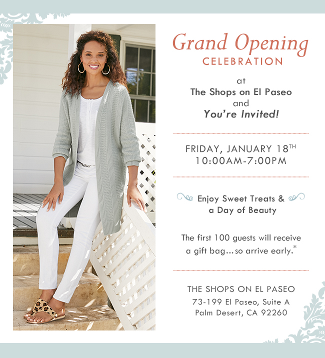 The Shops on El Paseo Grand Opening