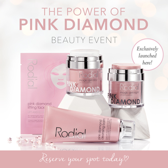 Rodial The Power of Pink Diamond Beauty Event