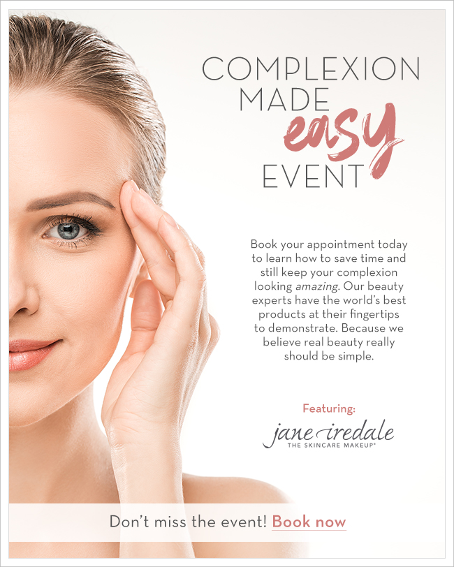 Complexion Made Easy Event, Featuring jane iredale
