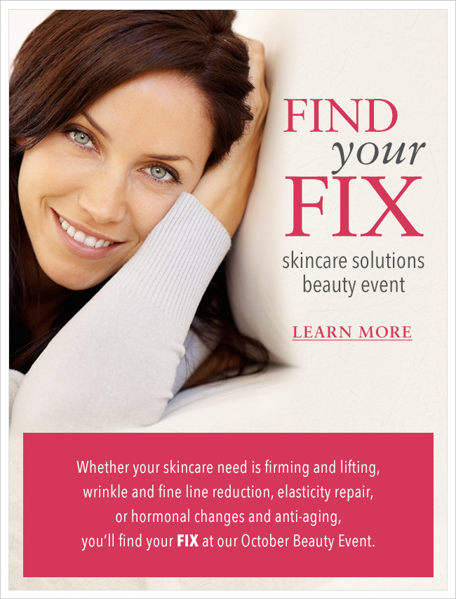 Find Your Fix Skincare Solutions Beauty Event