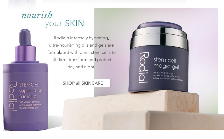 Nourish your skin- shop all skincare