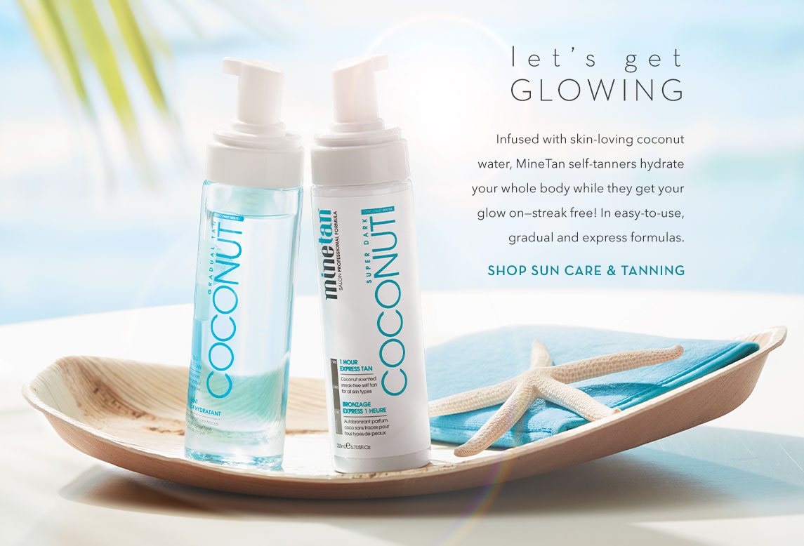 Let's Get Glowing - shop Sun Care & Tanning