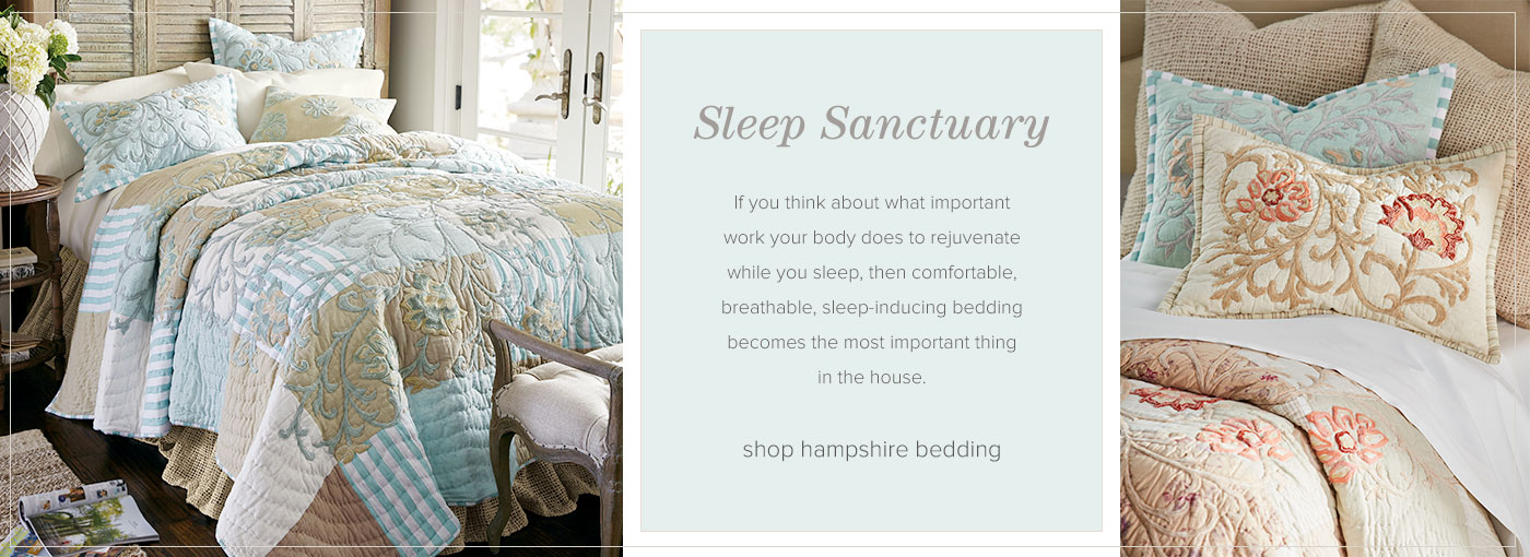 Sleep Sanctuary - shop Hampshire Bedding Collection
