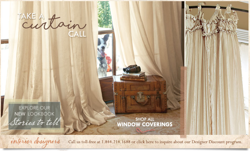 Take a Curtain Call- shop all Window Coverings