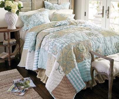 Hampshire Embroidered Patchwork Bedding Collection