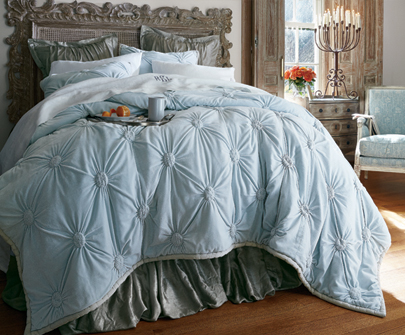 Ruched Velvet Bedding Collection