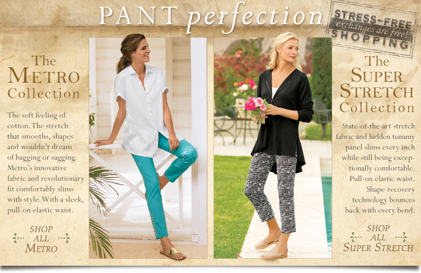Pant Perfection : Stress-Free shopping- exchanges are free!