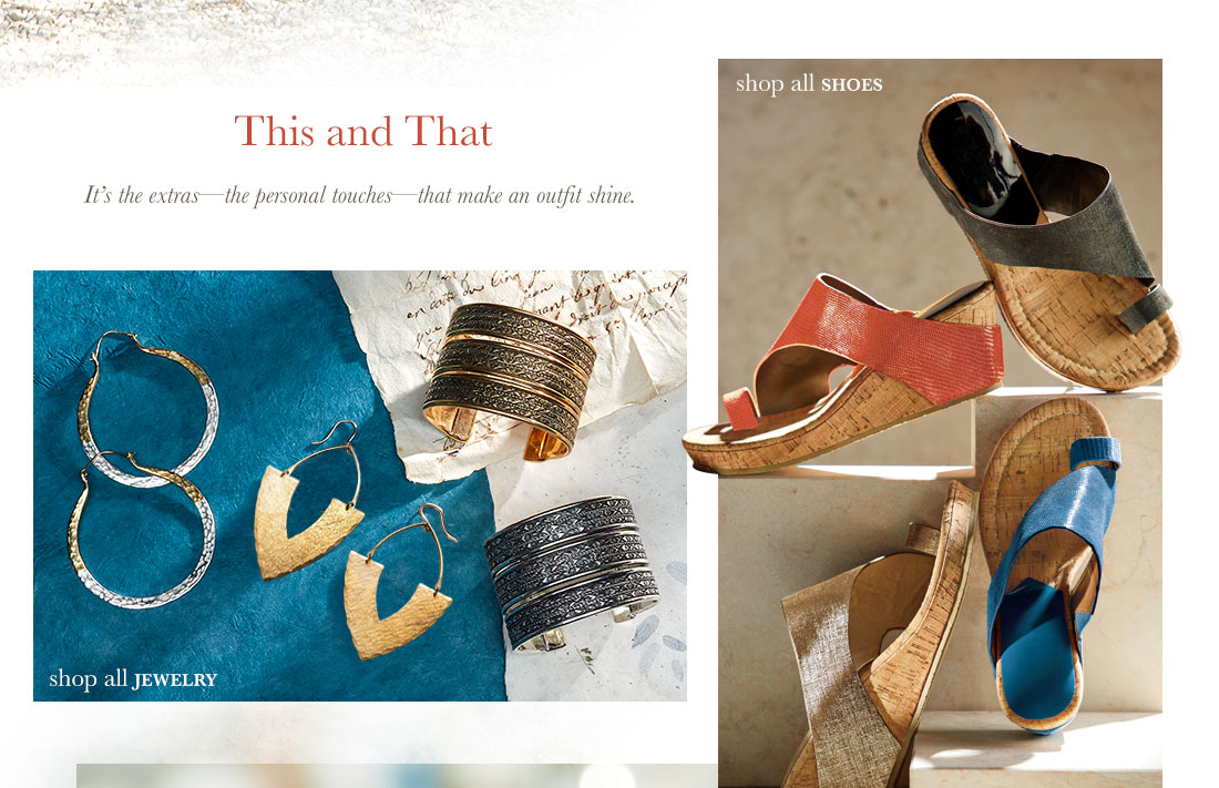 This and That- It's the extra's that make an outfit shine. Shop Jewelry & Shop Shoes