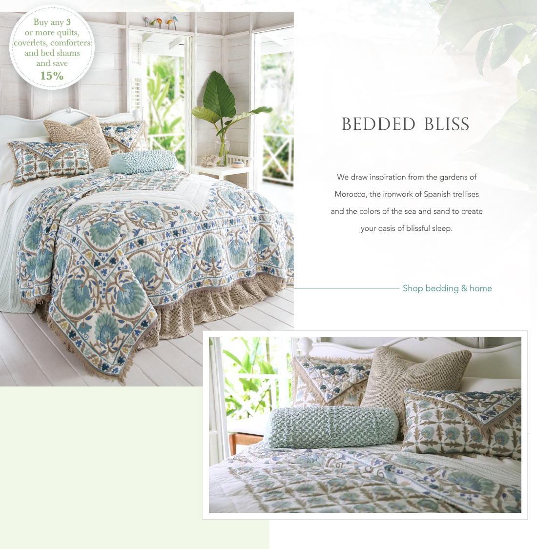 Bedded Bliss - shop bedding & home