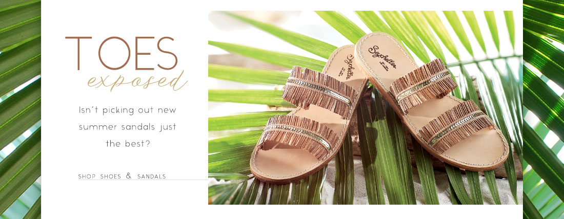 Toes exposed - shop sandals