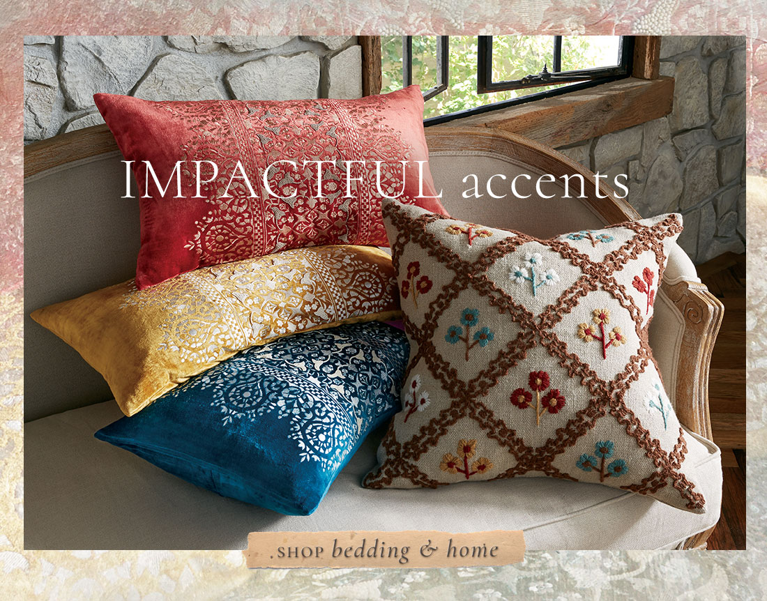 Impactful Accents - shop all bedding & home