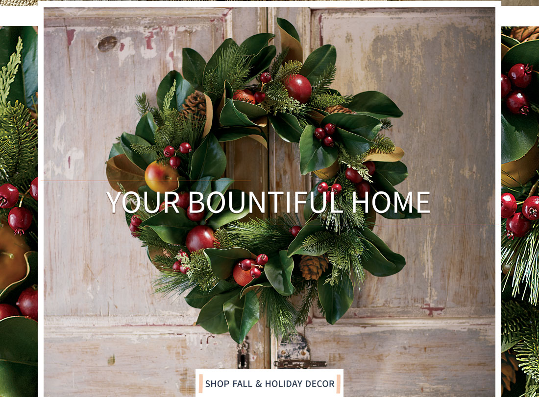Your Bountiful Home- shop Fall & Holiday decor
