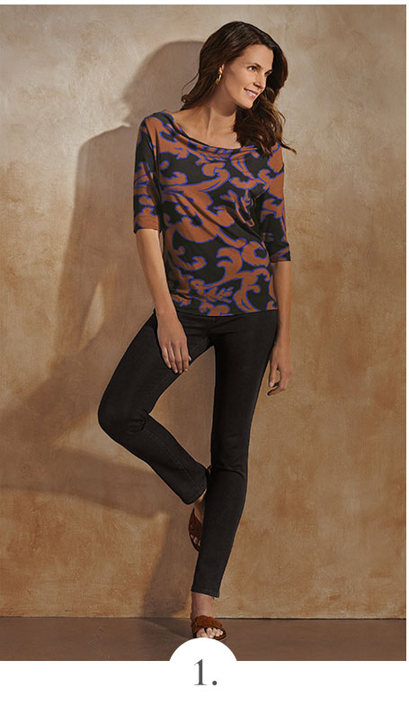 Acanthus Soft Jersey Top